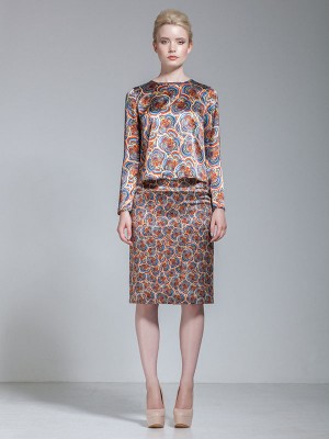 ZARAH ALL OVER FLORAL PRINT SKIRT